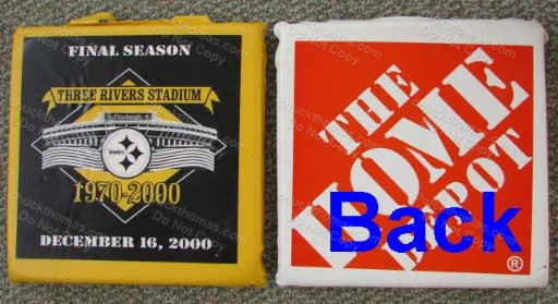 Three Rivers Stadium LAST Game Seat Cushion Dec 16, 2000