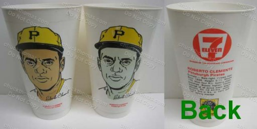 Roberto Clemente Plastic Cups from 7-11