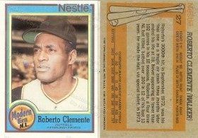 Roberto Clemente Nestle Trading Card