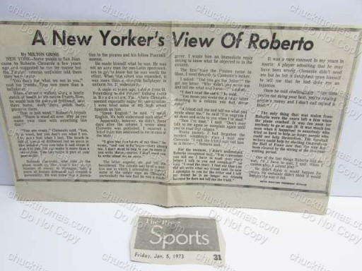A New Yorker's View of Roberto