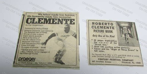 Two Clemente Book Ads