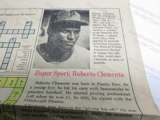 Super Sport: Roberto Clemente News Clipping