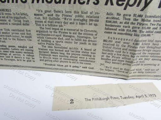 Clement Mourners Reply News Clipping