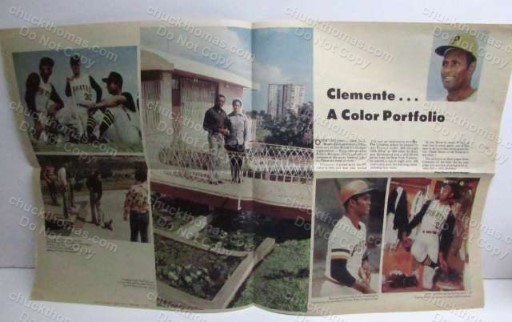 Roberto Clemente Pittsburgh Roto Newspaper Color Photos 1973