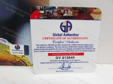 Global Authentics Certificate of Authenticity - Ryan Shazier
