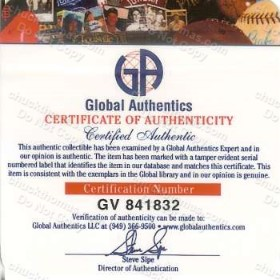 Global Authentics Certificate of Authenticity Mario Lemieux and Sidney Crosby