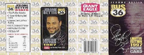 Jerome Bettis Pre-paid Phone Card