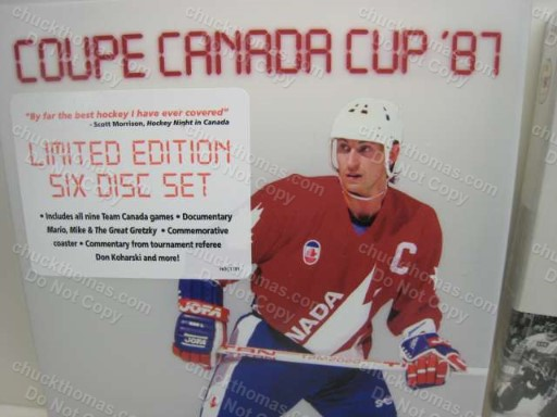 Mario Lemieux Signed 1987 Canda Cup 6 DVD Sealed Set