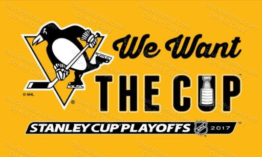 We Want the Cup Penguins 2017 Playoffs Towel