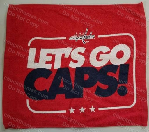 Washington Capitals vs Penguins 2017 Stanley Cup Playoff towel