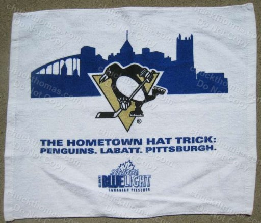 Penguin Hockey Labatt Beer Hat Trick Cheering Towel