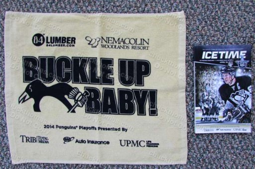 2014 Penguin Hockey GOLD Cheering Towel and Program