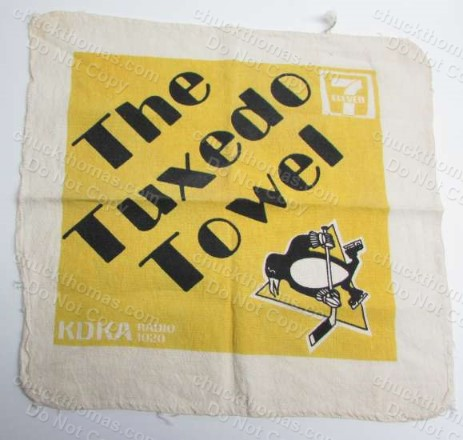 Penguin Hockey Game Promo Tuxedo Cheering Towel
