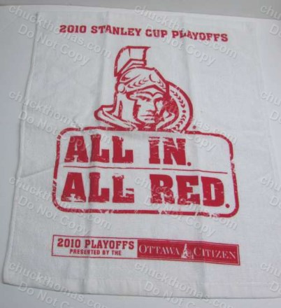 Ottawa Senators Vs Pens 2010 Cheering Towel