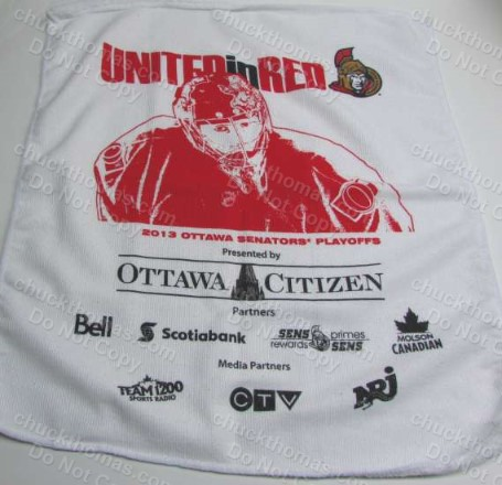 Ottawa Senators Vs Pens 2013 Cheering Towel Rally Rag