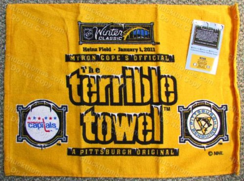 Penguins 2011 Outdoor Winter Classic Terrible Towel vs Capitals