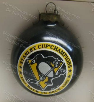 Penguin 1991-92 Back to Back Stanley Cup Ornament