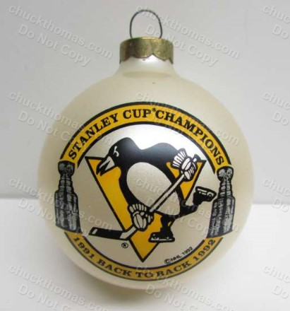 Pens Back to Back white Ornament