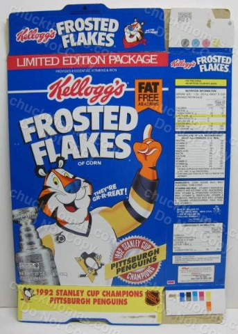 Pens 1992 Frosted Flakes Box