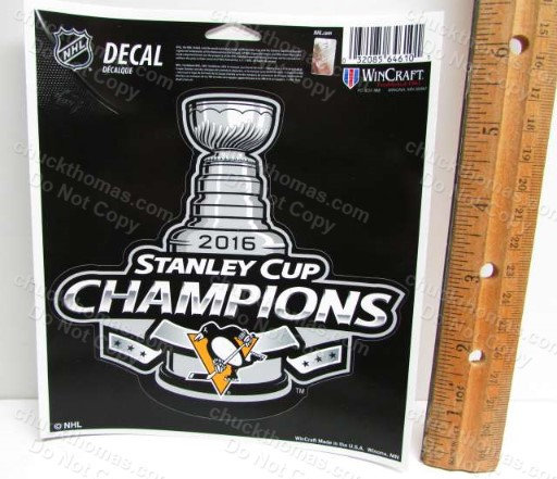 Penguin Stanley Cup Champions 2016 Peel Off Decal