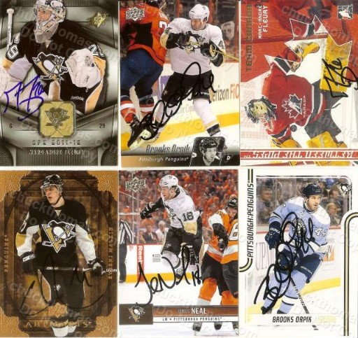 2014 Penguin Signed Trading Cards
