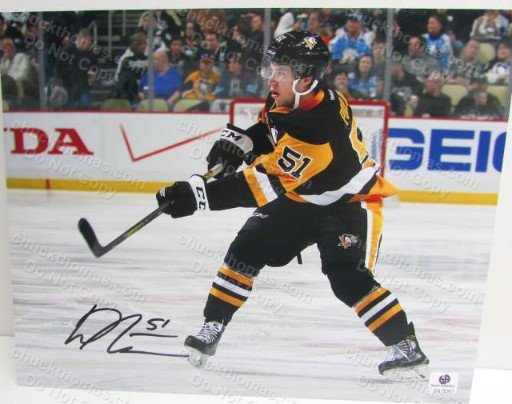 Derrick Pouliot Penguin Hockey Signed 8x10 Photo