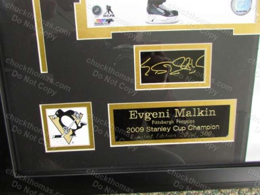 Evgeni Malkin Autograph Triple Matted Professionally Framed