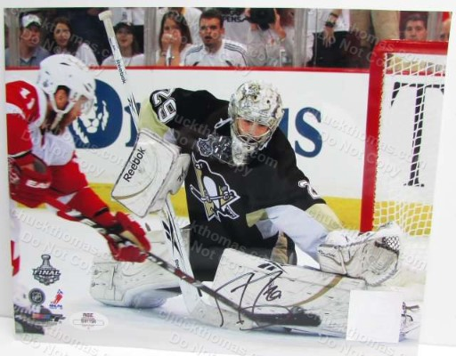 Penguin Goalie Marc Andre Fleury Signed Photo with an ACE COA