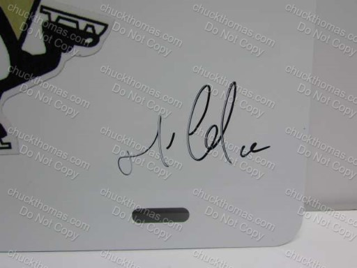 Penguin Captain and Team Owner Mario Lemieux Dual Autographs
