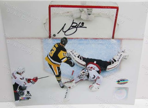 Penguin Nick Bonino Autographed 8x10 Photo