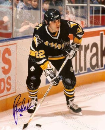 Penguin Rick Tocchet Autograped 8x10 photo