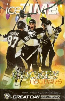 Sidney Crosby Autographed Penguins Home Game Ice Time Program