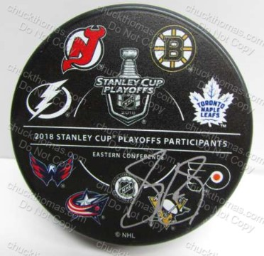 Sidney Crosby Signed NHL Playoff Team Logos Official Puck