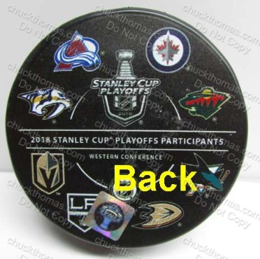 NHL Playoff Team Logos Official Puck