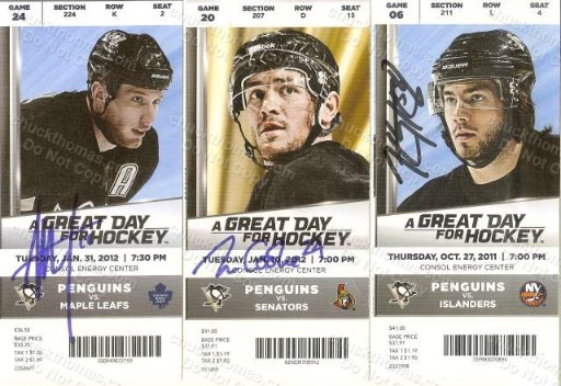 Penguin Player Autographed Game TIckets
