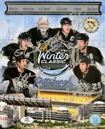 2011 Penguin Team Collage Winter Classic in Pittsburgh PA