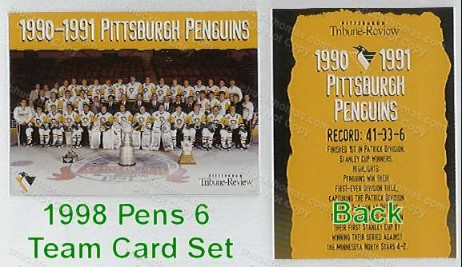 Penguin 6 Team Card Tribune Review Set