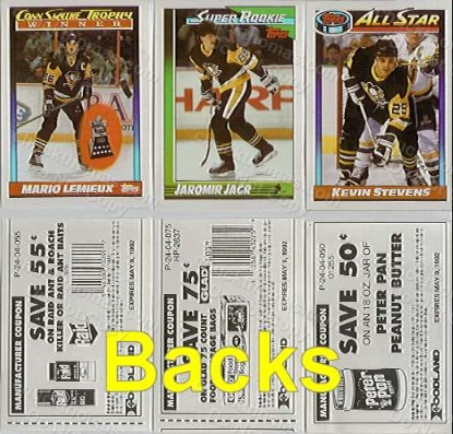 Pens Topps Reprint Sticker