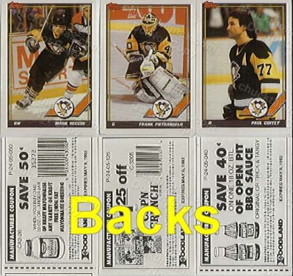 Pens Topps Retprint Stickers