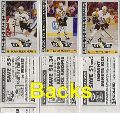 Pens Topps Reprint Stickers