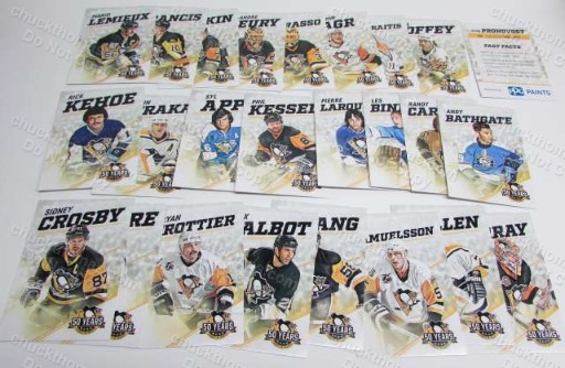 Penguins 50th Anniversary Logo 25 Card Set - Home Game Promotion
