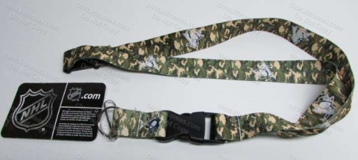 Peguin Hockey Camo Design Lanyard