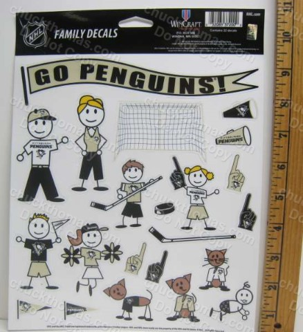 Penguin Hockey Car Family Decal 22 Piece Set