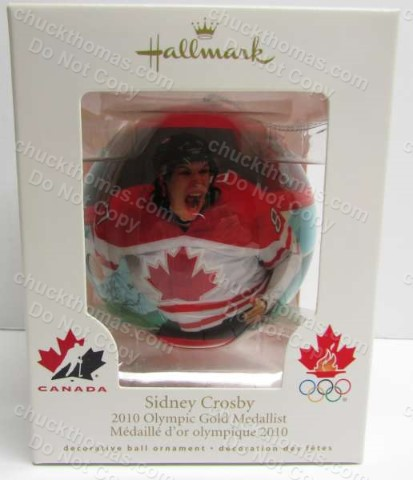 Sidney Crosby 2010 Olympic Gold Medal Winner Canadian Hallmark Bulb Ornament