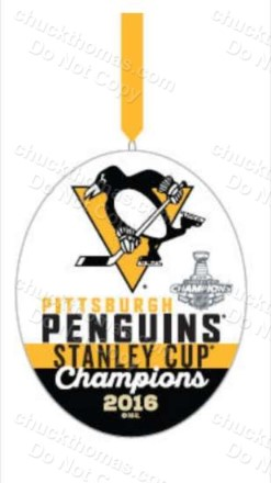 Penguins 2016 Hallmark Stanley Cup White Ornament