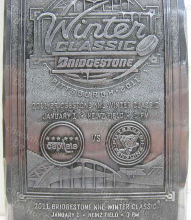 Pen's 2011 Winter Classic Wendell Forge Aluminum Ticket