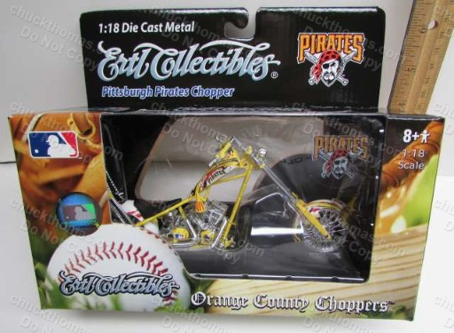 Pittsburgh Pirates Baseball 1:18 Scale Model Chopper Motorcycle