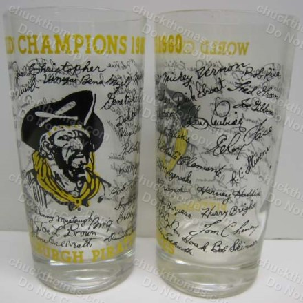 1960 Pirates World Series Champs Autographed Tumbler