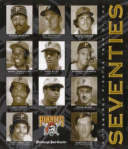 PIRATES Team of The Seventies Poster