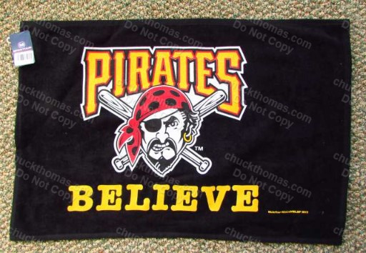 Pittsburgh Pirates Baseball Believe Cheering Towels